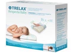 Подушка ортопедическая Trelax Respecta  Baby с эффектом памяти для детей от 3-х лет